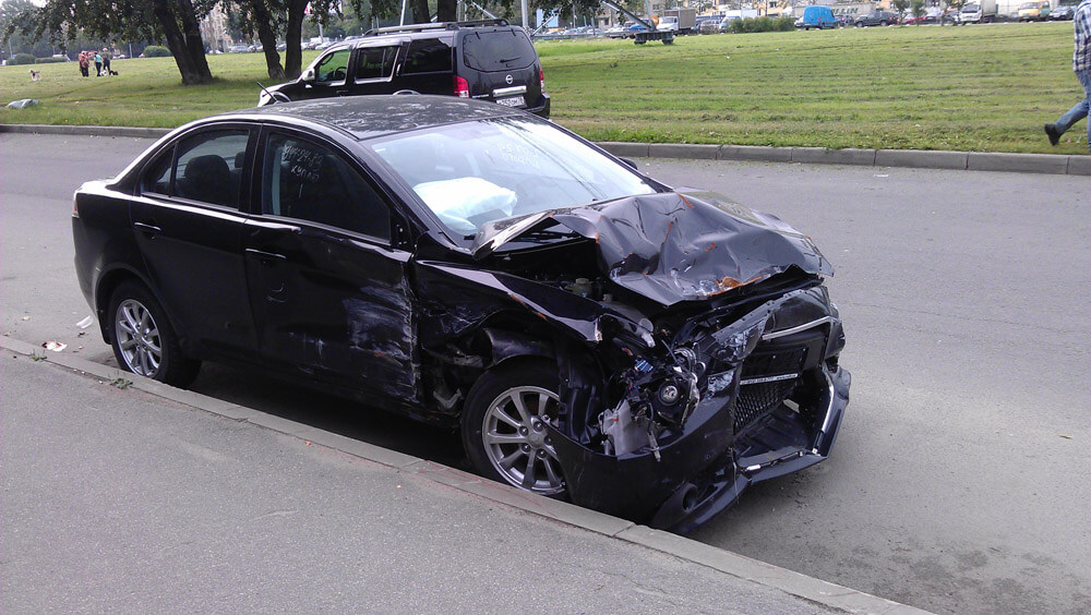 Фотография битого авто